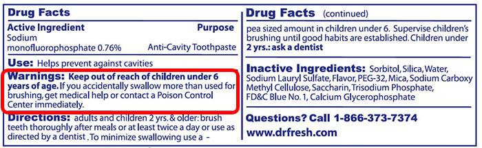 sự thật về kem đánh răng